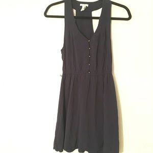 Forever 21 Navy Dress with Brass Button Details